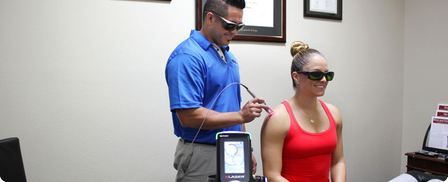 class IV K-laser treatment from Dr. Aaron Ayala at Active spine and sport care camarillo