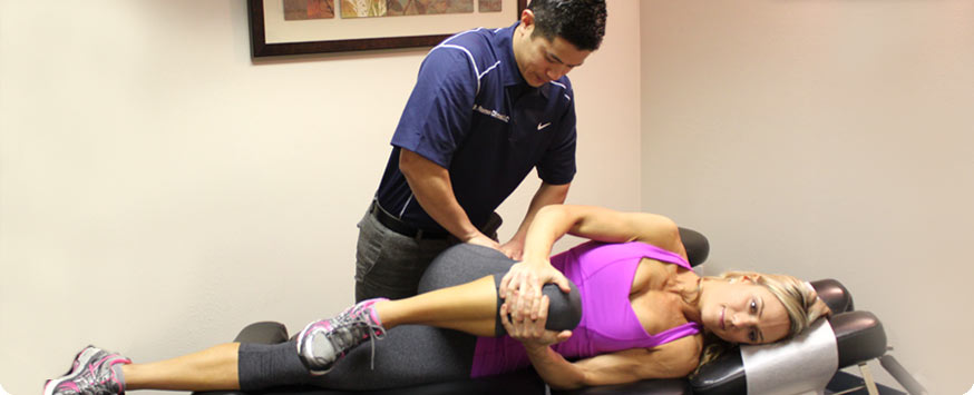 Dr. Romeo Dimaano performing Active Release Techniques at Active spine and sport care camarillo